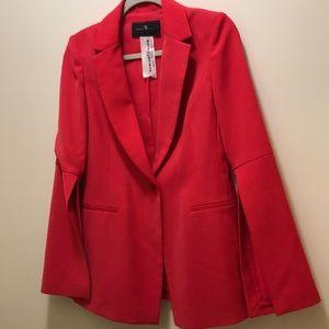 NEW BCBG Red Split Sleeve Womens Blazer